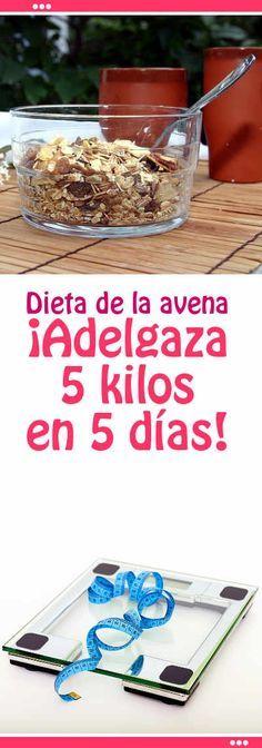 dieta avena 5 dias 5 kilos