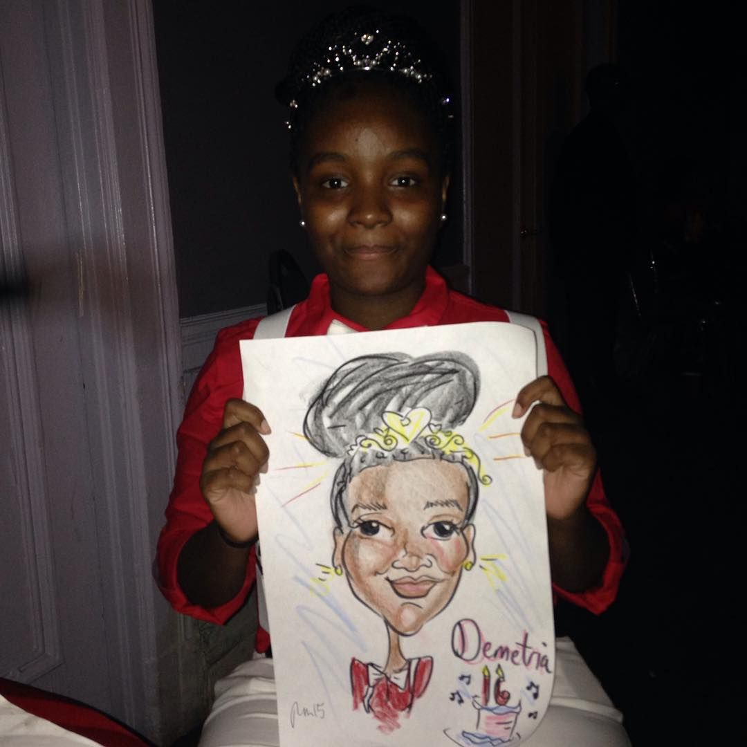 Happy birthday sweet sixteen! #eventplanning #caricature #caricatures #nysketches #partytime #partyplanning #partyplanner #sweetsixteen