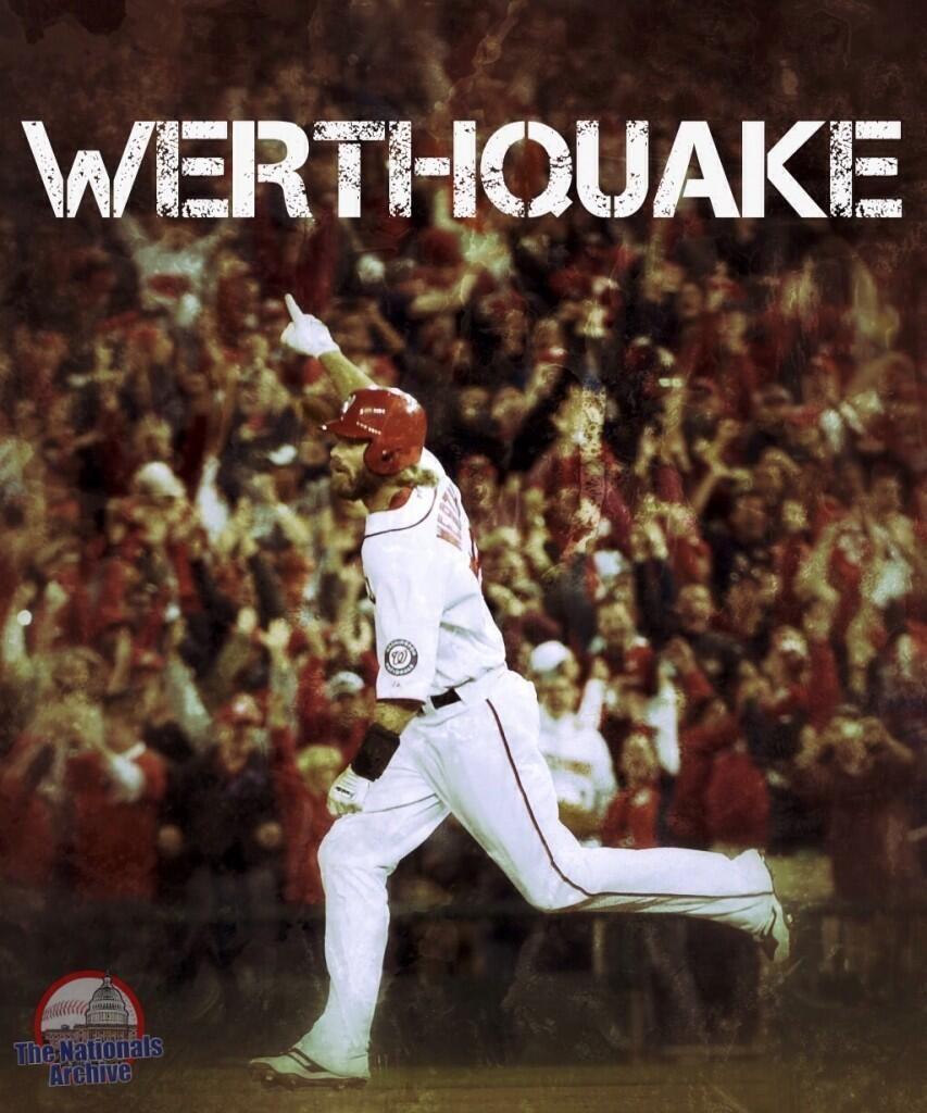 Werthquake Washington Nationals Baseball Washington Nationals Nats Baseball