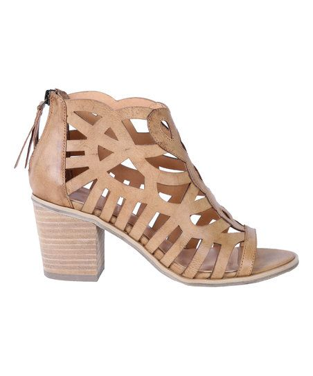 REPORT Footwear Tan Florette Strappy Heeled Sandal | zulily