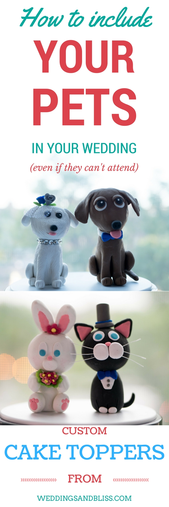 Pets not allowed at your wedding venue no problem add them to