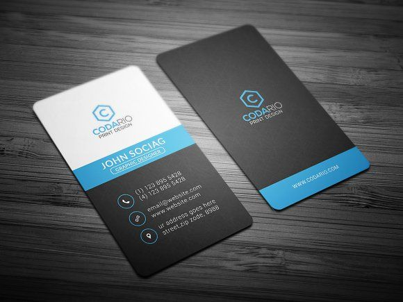Modern vertical business card vertical business cards business modern vertical business card reheart Images