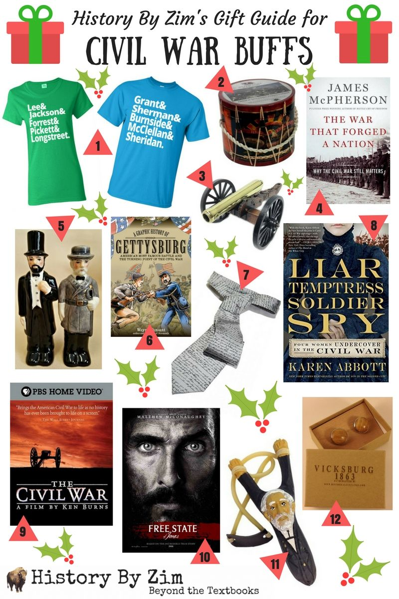 Gift guide for the Civil War buff on your list!