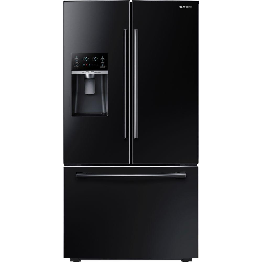 Samsung 22 5 Cu Ft French Door Refrigerator In Black Counter Depth Rf23hcedbbc The Home Depot Counter Depth French Door Refrigerator French Door Refrigerator French Doors