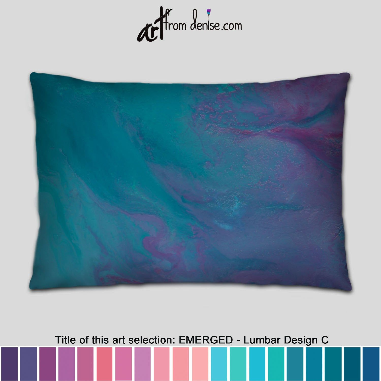 Modern Abstract Blue Lumbar Pillows Turquoise And Purple Throw Pillows For Bed Decor Couch Pillows Sets Or Outdoor Lumbar Support In 2020 Purple Throw Pillows Throw Pillows Bed Couch Pillow Sets
