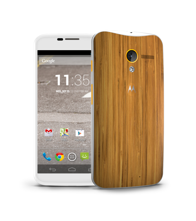 Motorola Moto X.  Love the wood back.