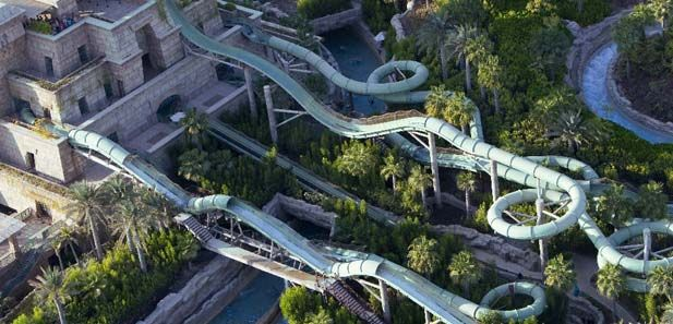 Water Slides at Aquaventure, Atlantis The Palm, Dubai