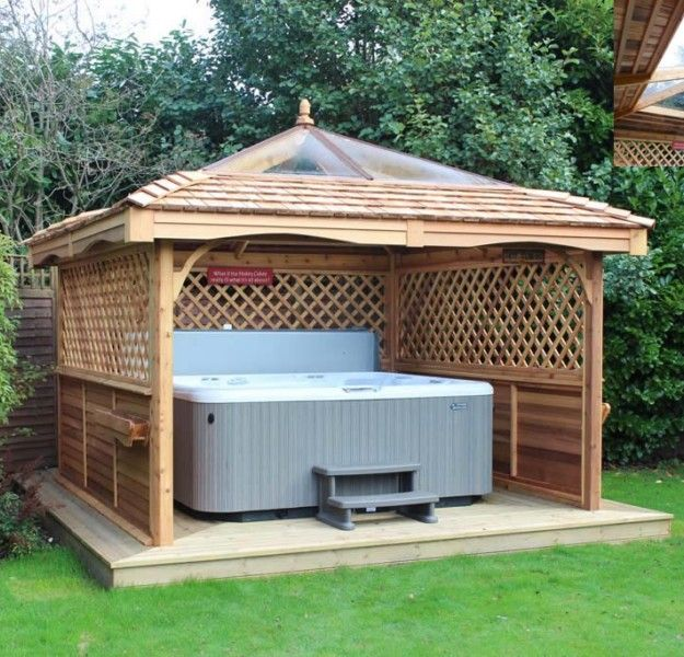 Gazebo ideas for hot tubs hot tubs tubs and hot tub gazebo for Diy hot tub gazebo