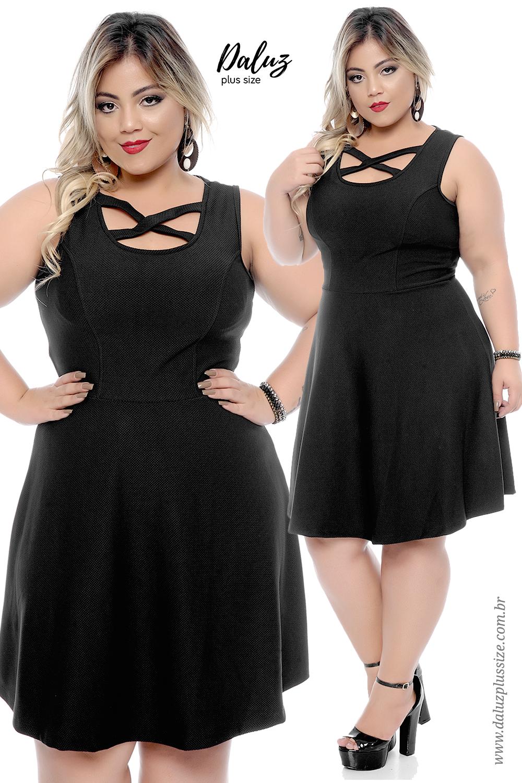 06275f9c5162 Vestido Plus Size Enery - Coleção Primavera - Verão 2018 Plus Size -  daluzplussize.com.br