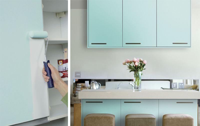 Küche verschönern, Küchenlack, diy, lackieren, Foto Glasurit - klebefolie für küchenschränke