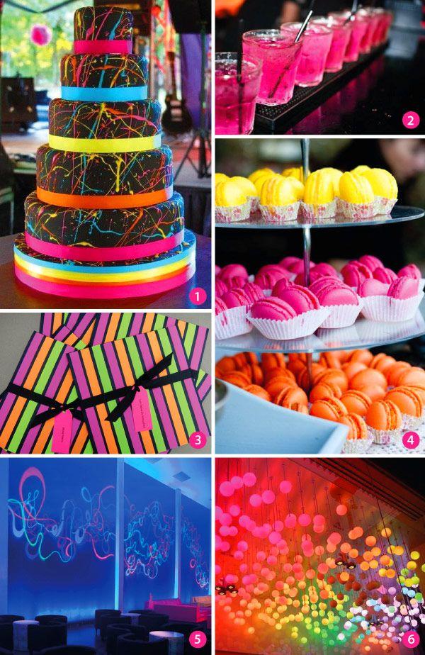 Ideias Para Festa De 15 Anos Com O Tema Neon Constance