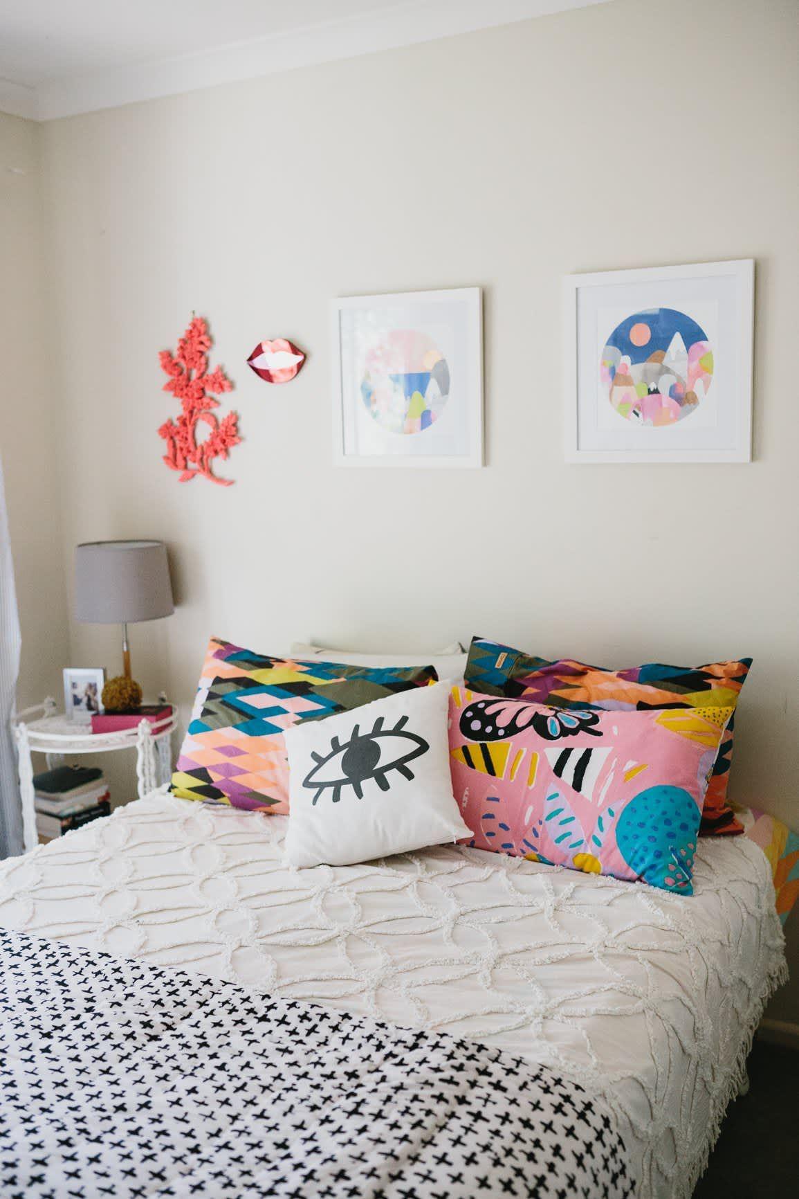 Laura Blythman's Melbourne Neon Dream Home Home bedroom