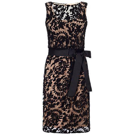 Buy Adrianna Papell Lace Blouson With Slash Dress Black Online At Johnlewis Com Asos Shift Dress Fashion Guest Dresses