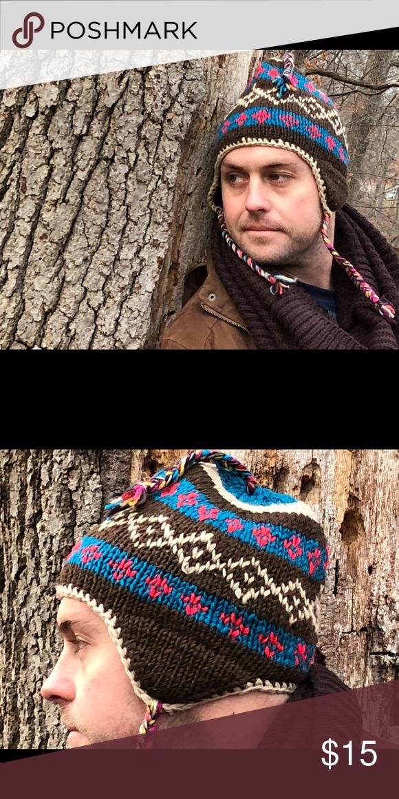 30021e954f2 🎩👒handmade winter wool hat snow Hat warm hat🎁 Handmade Unisex Sherpa  vintage Wool