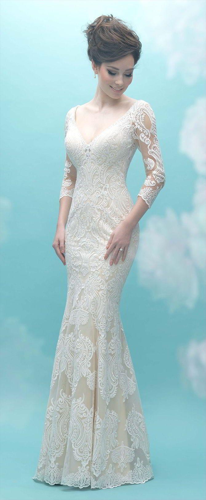 Illusion lace wedding dress  Allure Bridals Fall  Wedding Dresses  Allure bridals Wedding