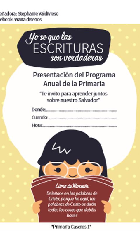 TARJETA DE INVITACIÓN | La biblia-niños | Pinterest | Lds primary ...