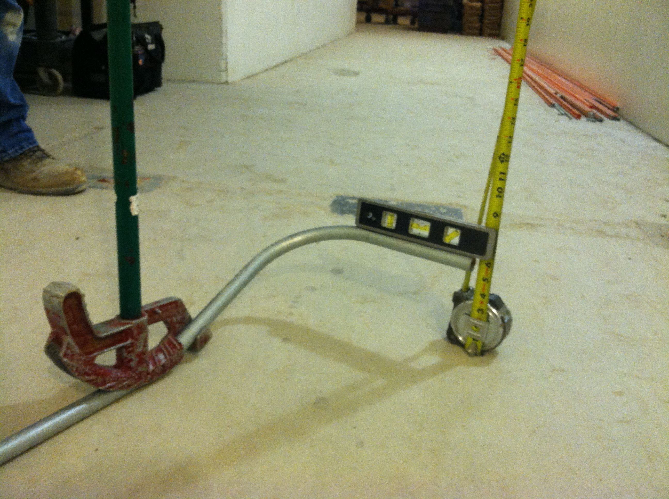 A Trick To Help Electricians Measure Kick When Bending Conduit By House Wiring Tools Themselves Electrical Work