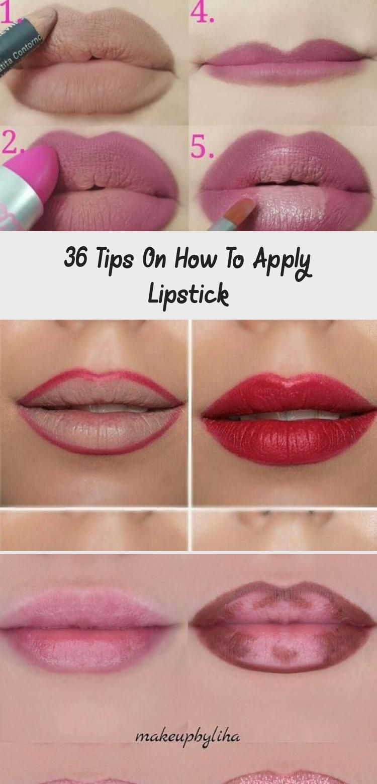 36 Tips On How To Apply Lipstick Eye Makeup Simple Tricks On