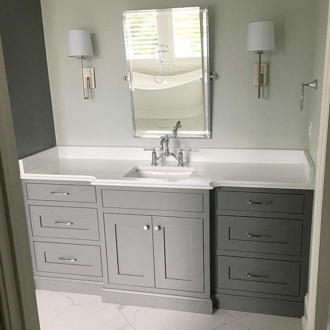 Grey Cabinet Paint Color: Sherwin Williams SW 7067