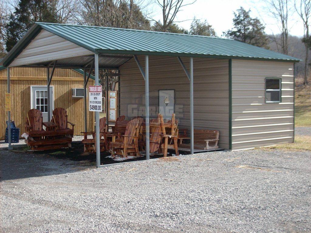Carport With Storage Shed Attached Storage Designs Storage