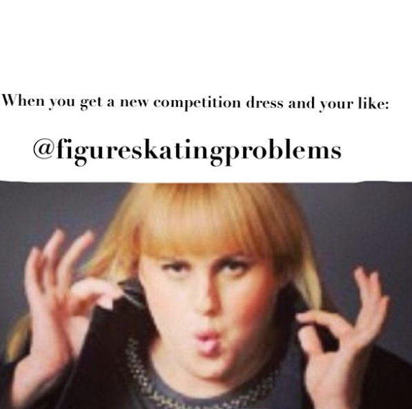 When you get a snazzy, brand new dress and it's like Christmas morning all over again. | 19 Pictures That Are Too Damn Real For Figure Skaters