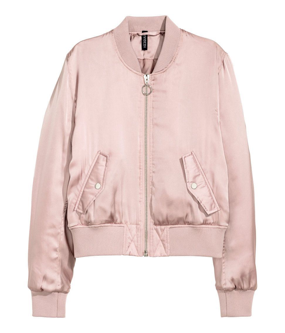 Stay On Trend With Our Must Have Spring Bomber Jacket In Every Color And Print Your Heart Desires Warm In H M Padded Bomber Jacket Bomber Jacket Clothes [ 1137 x 972 Pixel ]