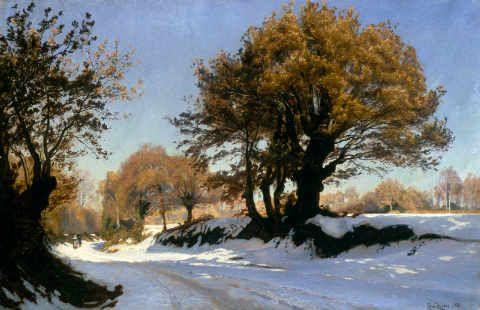 Chistian Zacho: Vinterbillede fra Bretagne, Den første sne (1881)