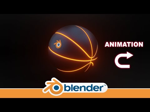Making A Neon Glow Basketball With Animation Showing How To Put Your Logo On It In Blender 2 8 Youtube Neon Glow Animation Neon