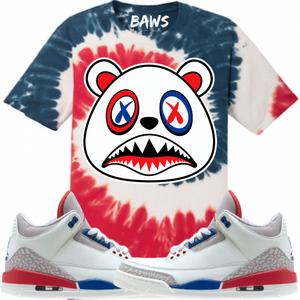 e6a14a481be Born A Wild Soul T-Shirt USA Baws Flag Tye Dye Shirt - Jordan 3  International Flight  Sneakers