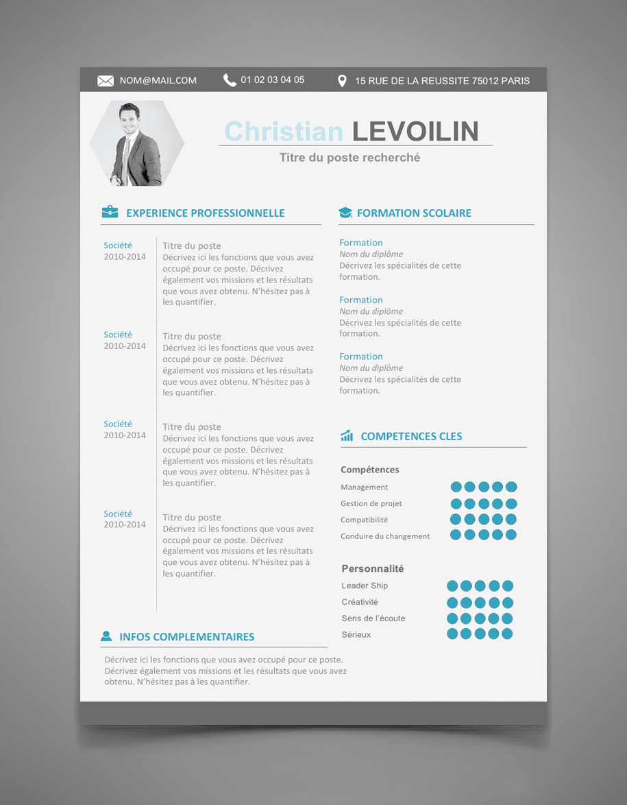 CV moderne et design Exemple cv, Cv cadre, Le cv