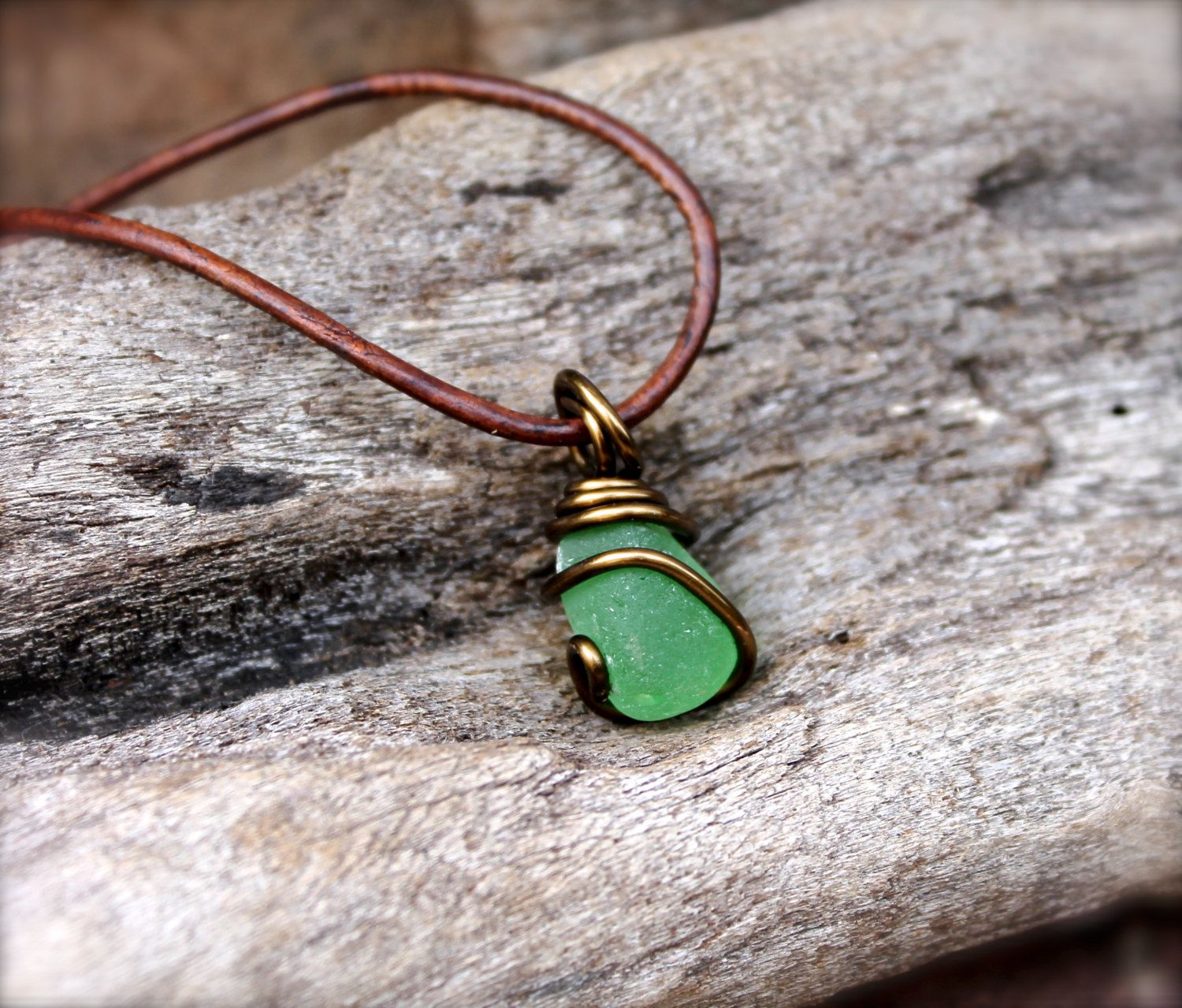 Sea Glass Necklace - Hawaiian Jewelry for Men - Leather Necklace for Men - Sea Glass Jewelry from Hawaii - Hawaii Ocean Inspired Necklace by MermaidTearsDesigns on Etsy https://www.etsy.com/listing/117754047/sea-glass-necklace-hawaiian-jewelry-for