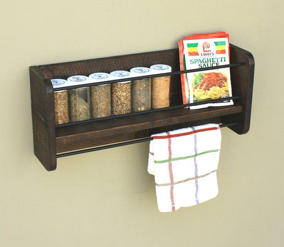 Woodworking Plans For Kitchen Spice Rack: Pin By Home Decor Creations On Pin4Etsy Home Decor