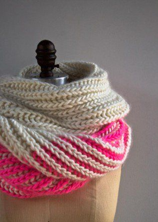 Color Dipped Scarves | Purl Soho | Scarf knitting patterns ...