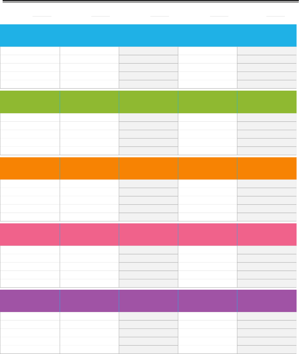 Weekly Assignment Calendar Template  Preschool Ideas