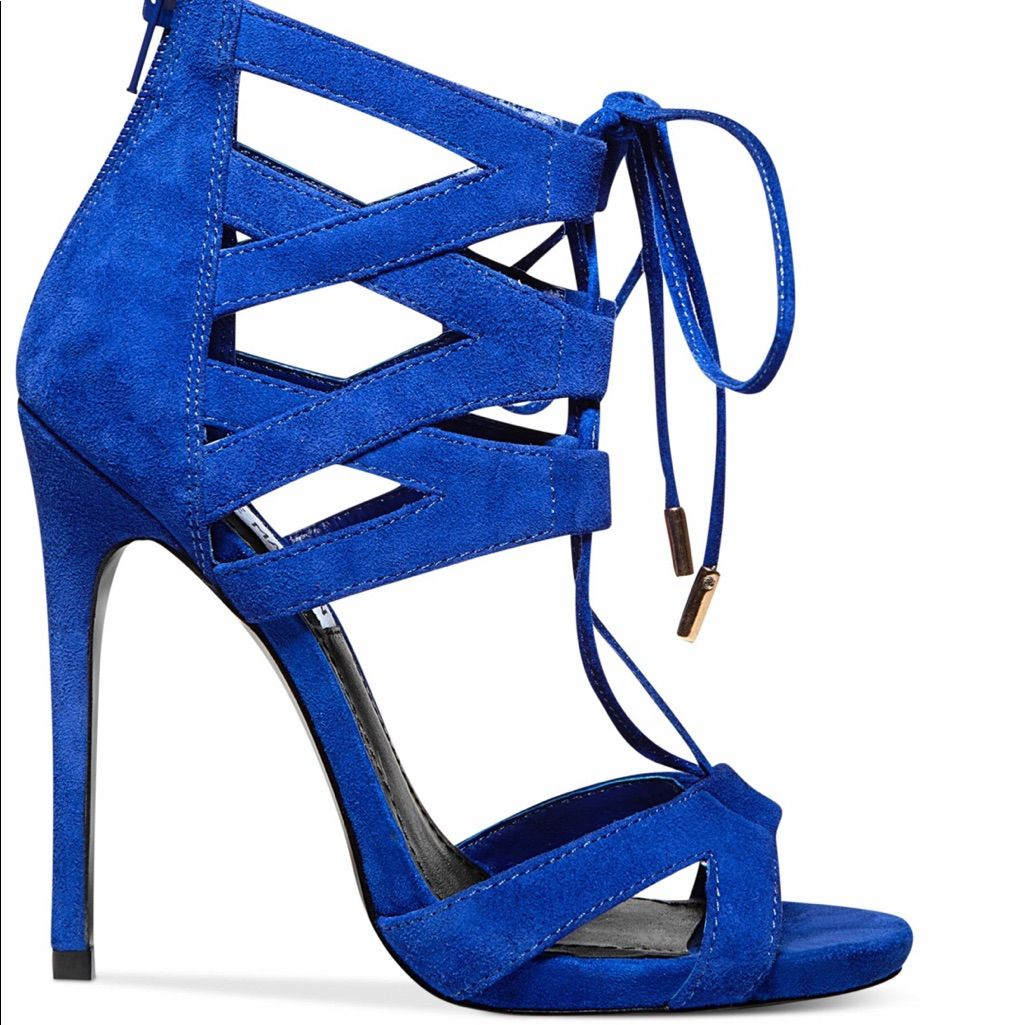 venta en línea última colección precio más bajo con Steve Madden Shoes | Steve Madden Maiden Blue Suede Sandals ...