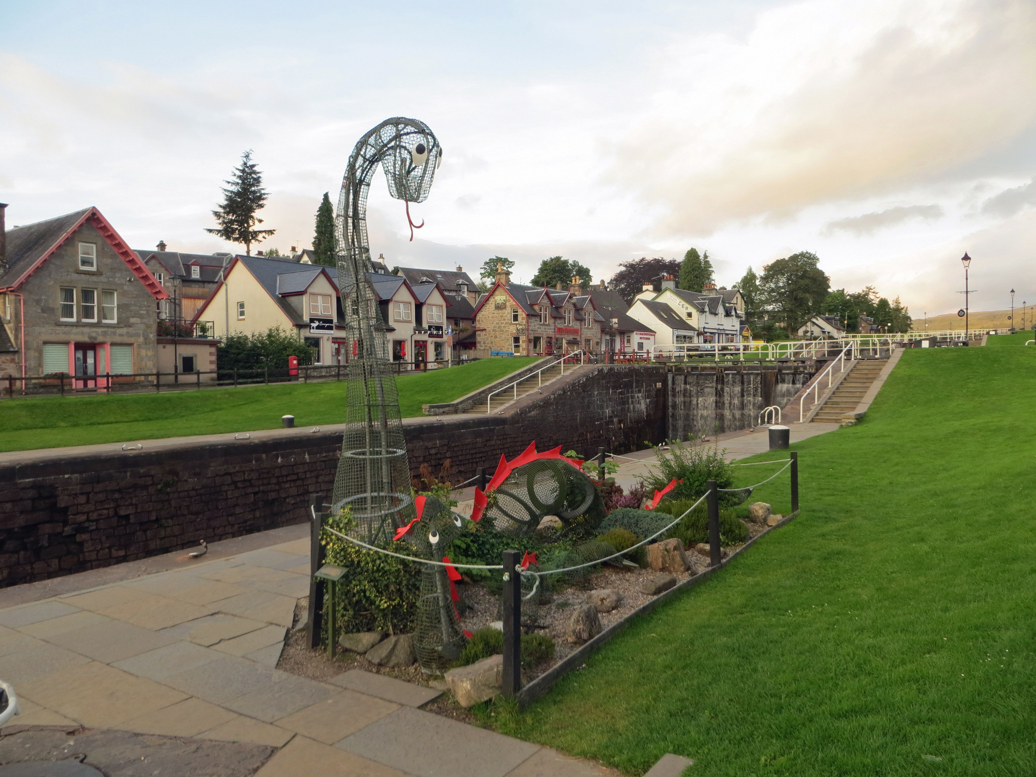 Beautiful town of Fort Augustus, Scotland