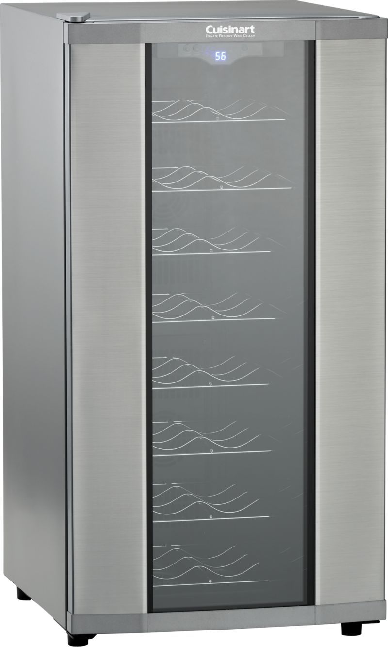 Cuisinart 32 Bottle Wine Cooler Reviews Crate And Barrel With Images Wine Cooler Wine Bottle Wine Cellar