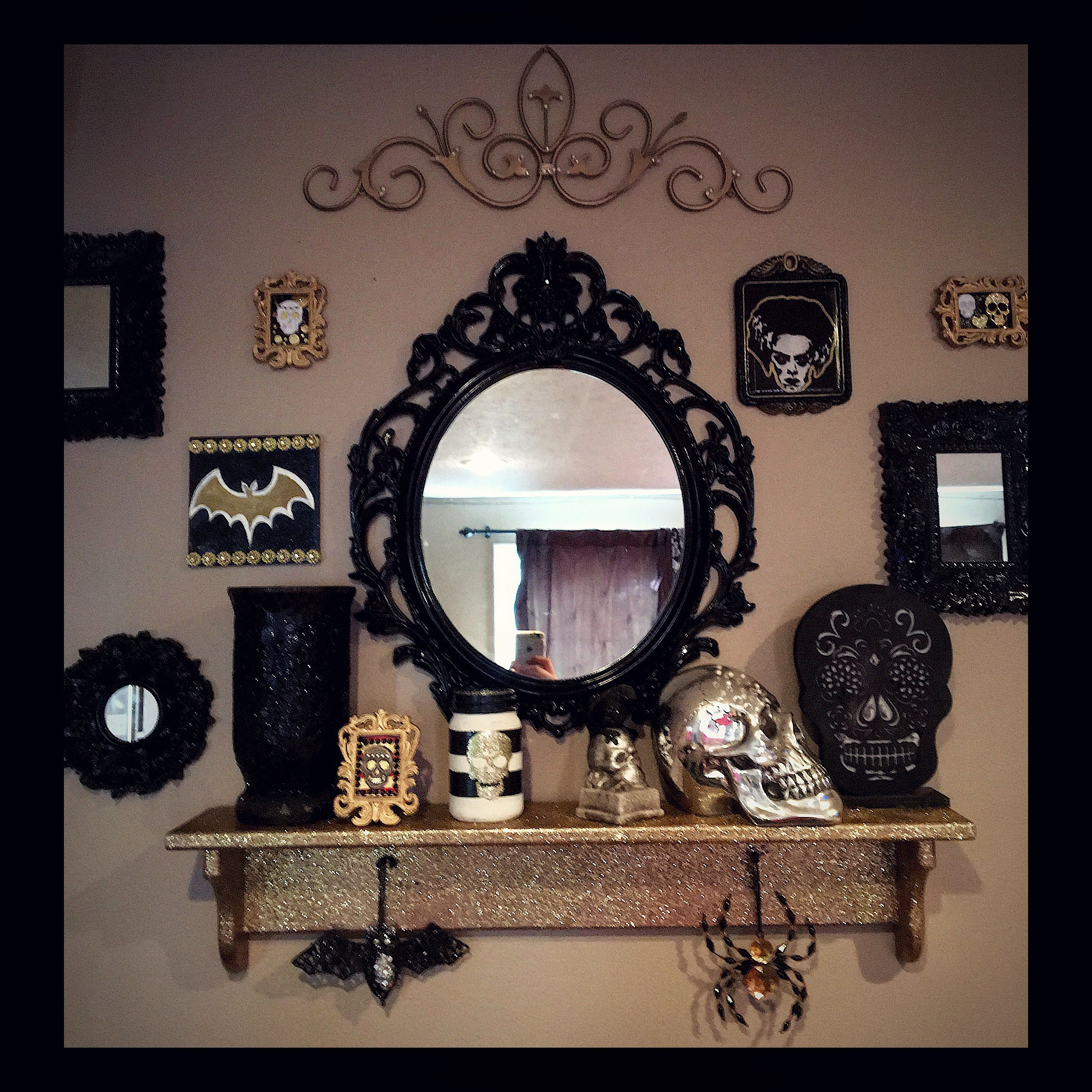 Gothic Gallery Wall For My Living Room Jaidyn Brianne Goth Home Decor Halloween Living Room Gothic Living Rooms