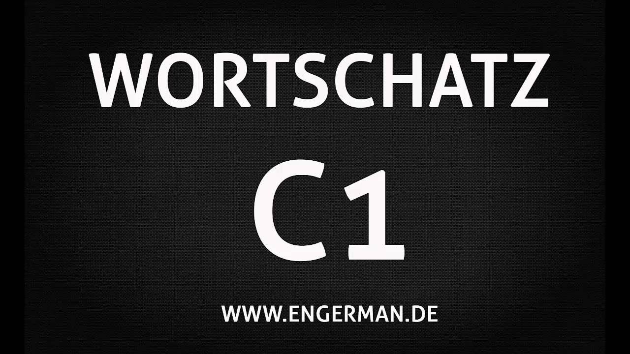 Deutsch C1 Wortschatz German C1 Vocabulary Part 2 Testdaf