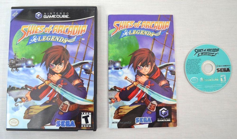 Skies Of Arcadia Legends - Nintendo Gamecube - Case disc and booklet