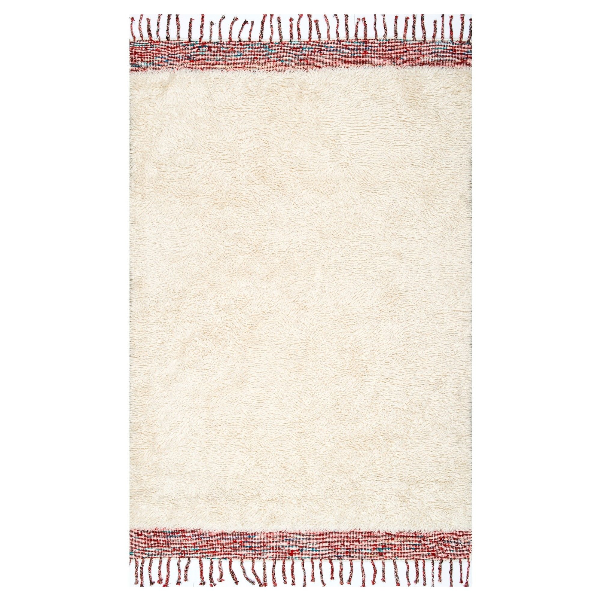 Off White Abstract Tufted Area Rug  (5X8), Blue Off White