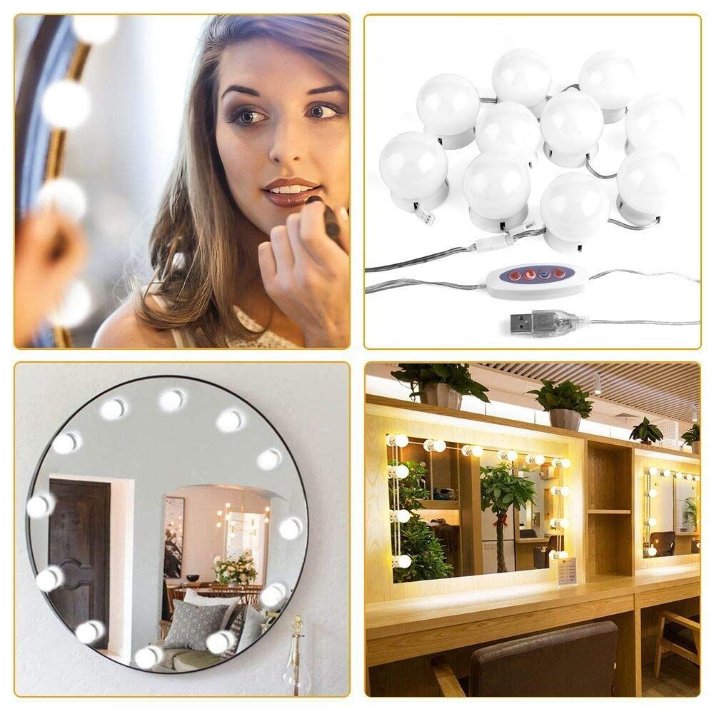 Hollywood LED Mirror Lights Beautiful Makeup My Own Light