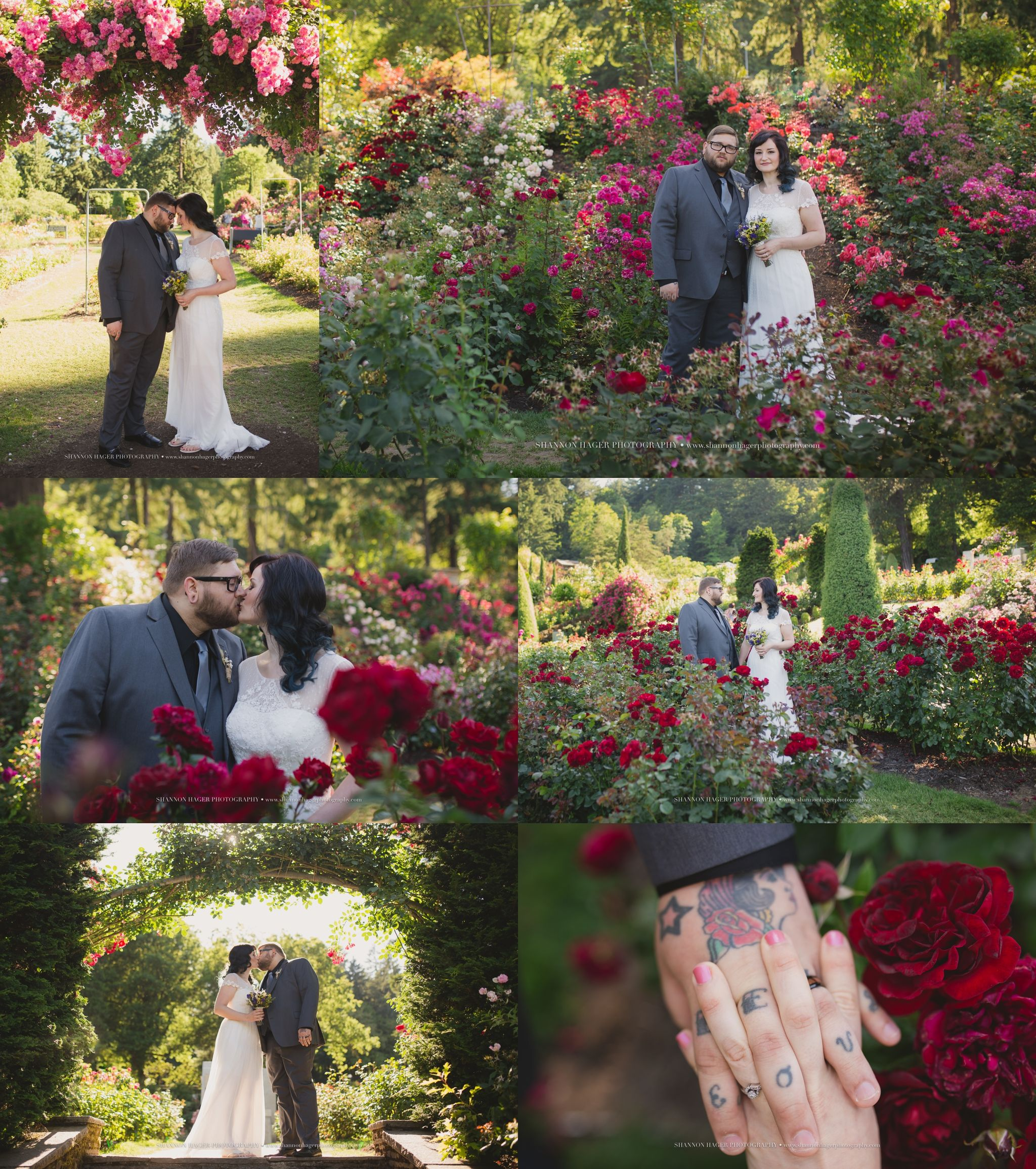 Portland Elopement Photographer Rose Garden Wedding Where To Elope In Oregon Shannon Hager