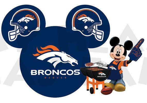 printable diy mickey mouse denver broncos football iron on transfer rh pinterest co uk Denver Broncos Football Clip Art free clipart denver broncos