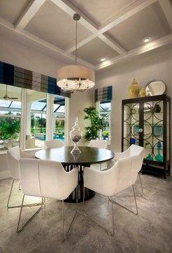 Contemporary window treatments pick up the colors perfectly I Romanza Interior Design