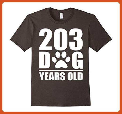 0598b1927 Mens 203 dog years old 29th birthday Large Asphalt - Birthday shirts  (*Partner-Link)