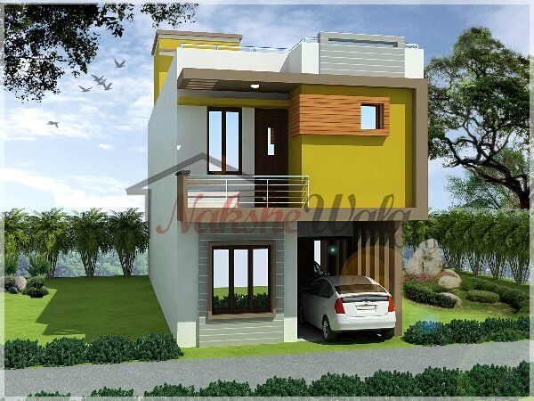Small house elevations small house front view designs for Modern house front view design