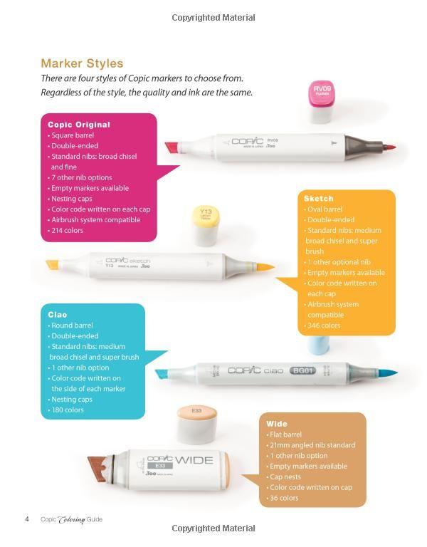 Copic Coloring Guide: Colleen Schaan, Marianne Walker: 9781596353763 ...