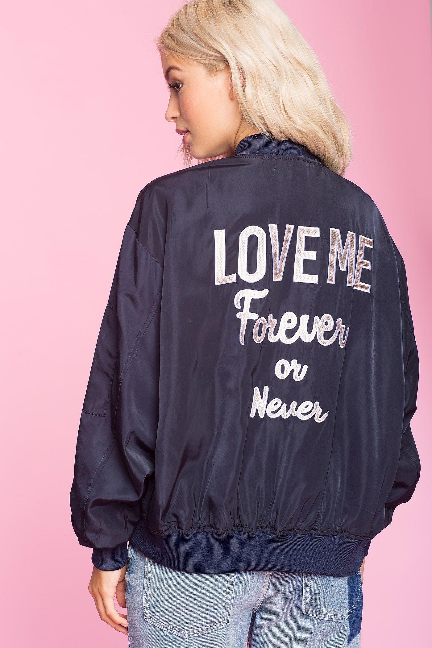 Women S Jackets Love Me Text Bomber Jacket Bomber Jacket Jackets Coats Jackets Women [ 2100 x 1400 Pixel ]