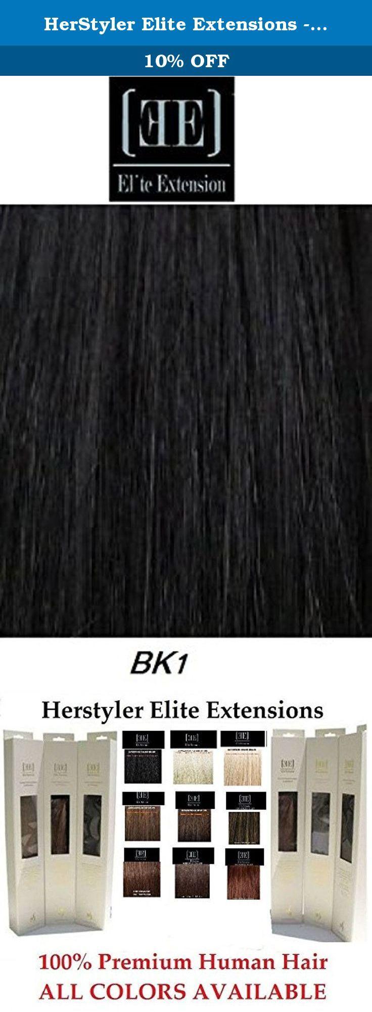 Herstyler Elite Extensions 18 Long 100 Human Hair Extensions